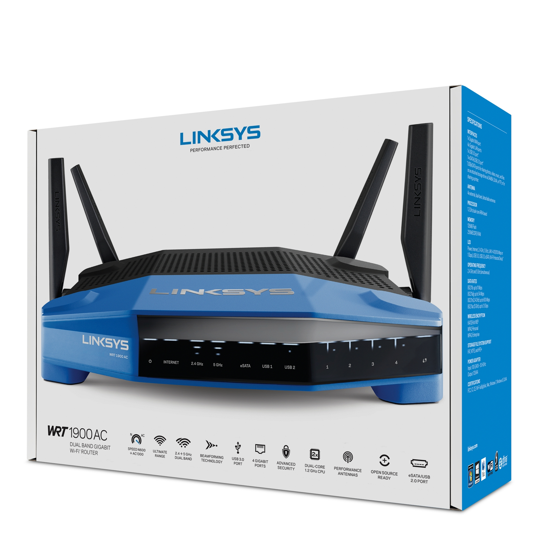 LINKSYS WRT1900ACS AC1900 DUAL-BAND SMART WI-FI WIRELESS ROUTER