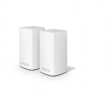 Linksys Velop Intelligent Mesh WiFi System, Dual-Band, 2-Pack White (AC2600)